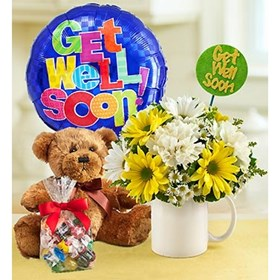 Send Flowers And More: Get Well Flower Bouquet