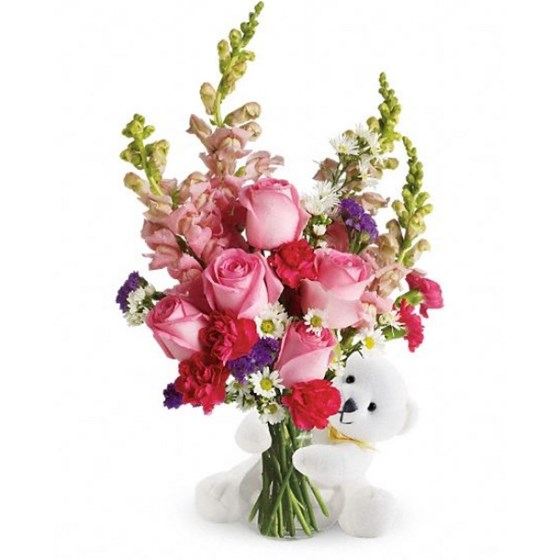 Send Flowers And More: New Born Baby Flower Bouquet